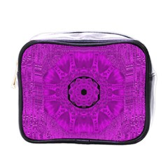 Purple Mandala Fashion Mini Toiletries Bags