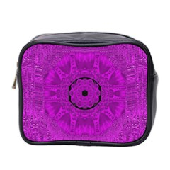 Purple Mandala Fashion Mini Toiletries Bag 2 Side