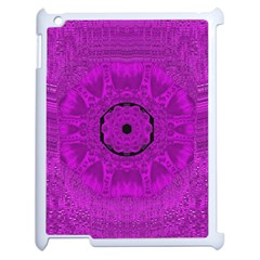 Purple Mandala Fashion Apple Ipad 2 Case (white)