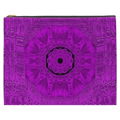 Purple Mandala Fashion Cosmetic Bag (XXXL)