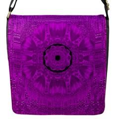 Purple Mandala Fashion Flap Messenger Bag (S)