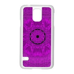 Purple Mandala Fashion Samsung Galaxy S5 Case (White)