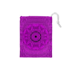 Purple Mandala Fashion Drawstring Pouches (Small)