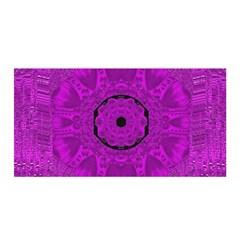 Purple Mandala Fashion Satin Wrap