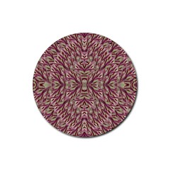 Mandala Art Paintings Collage Rubber Round Coaster (4 pack)