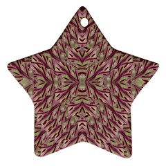 Mandala Art Paintings Collage Star Ornament (Two Sides)