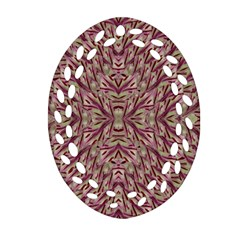 Mandala Art Paintings Collage Oval Filigree Ornament (Two Sides)