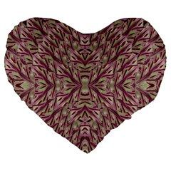 Mandala Art Paintings Collage Large 19  Premium Flano Heart Shape Cushions