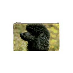 Poodle Black Cosmetic Bag (Small)