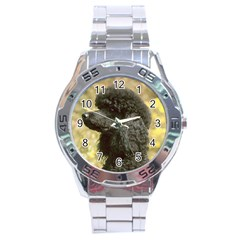 Poodle Black Stainless Steel Analogue Watch