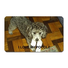 Poodle Love W Pic Silver Magnet (Rectangular)