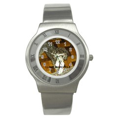 Poodle Love W Pic Silver Stainless Steel Watch