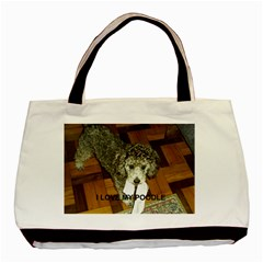 Poodle Love W Pic Silver Basic Tote Bag