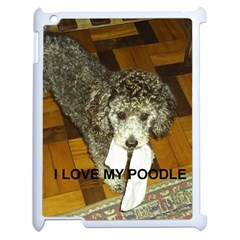 Poodle Love W Pic Silver Apple iPad 2 Case (White)