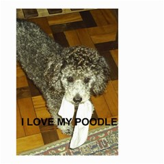 Poodle Love W Pic Silver Small Garden Flag (Two Sides)