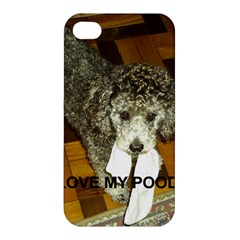 Poodle Love W Pic Silver Apple iPhone 4/4S Premium Hardshell Case