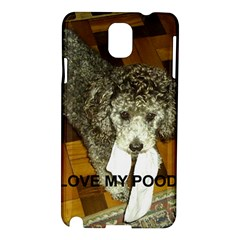 Poodle Love W Pic Silver Samsung Galaxy Note 3 N9005 Hardshell Case