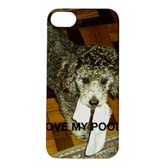 Poodle Love W Pic Silver Apple iPhone 5S/ SE Hardshell Case