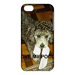Poodle Love W Pic Silver Apple iPhone 5C Hardshell Case
