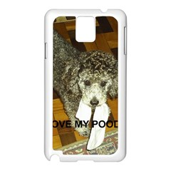 Poodle Love W Pic Silver Samsung Galaxy Note 3 N9005 Case (White)