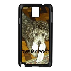 Poodle Love W Pic Silver Samsung Galaxy Note 3 N9005 Case (Black)