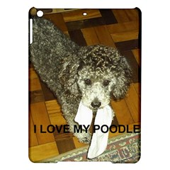 Poodle Love W Pic Silver iPad Air Hardshell Cases