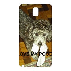 Poodle Love W Pic Silver Samsung Galaxy Note 3 N9005 Hardshell Back Case