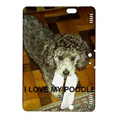 Poodle Love W Pic Silver Kindle Fire HDX 8.9  Hardshell Case