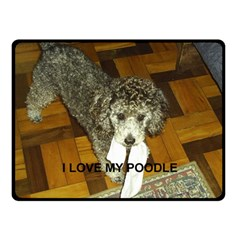 Poodle Love W Pic Silver Double Sided Fleece Blanket (Small)
