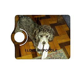 Poodle Love W Pic Silver Kindle Fire HD (2013) Flip 360 Case