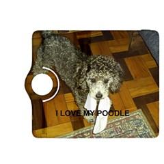 Poodle Love W Pic Silver Kindle Fire HDX 8.9  Flip 360 Case