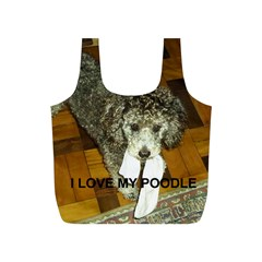 Poodle Love W Pic Silver Full Print Recycle Bags (S)