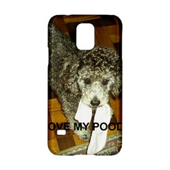 Poodle Love W Pic Silver Samsung Galaxy S5 Hardshell Case