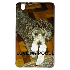 Poodle Love W Pic Silver Samsung Galaxy Tab Pro 8.4 Hardshell Case