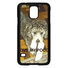 Poodle Love W Pic Silver Samsung Galaxy S5 Case (Black)