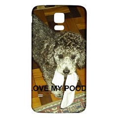 Poodle Love W Pic Silver Samsung Galaxy S5 Back Case (White)