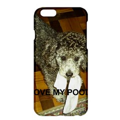 Poodle Love W Pic Silver Apple iPhone 6 Plus/6S Plus Hardshell Case