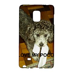 Poodle Love W Pic Silver Galaxy Note Edge