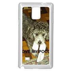 Poodle Love W Pic Silver Samsung Galaxy Note 4 Case (White)