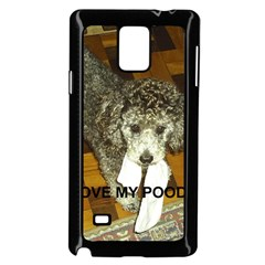 Poodle Love W Pic Silver Samsung Galaxy Note 4 Case (Black)