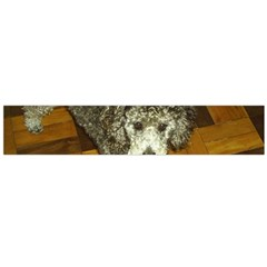 Poodle Love W Pic Silver Flano Scarf (Large)