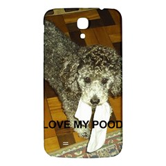 Poodle Love W Pic Silver Samsung Galaxy Mega I9200 Hardshell Back Case