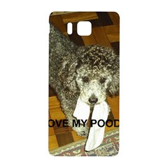 Poodle Love W Pic Silver Samsung Galaxy Alpha Hardshell Back Case