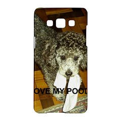Poodle Love W Pic Silver Samsung Galaxy A5 Hardshell Case