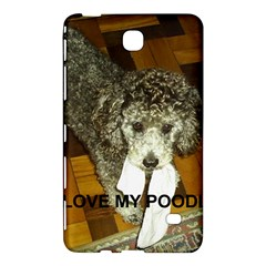 Poodle Love W Pic Silver Samsung Galaxy Tab 4 (7 ) Hardshell Case