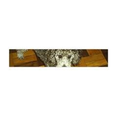 Poodle Love W Pic Silver Flano Scarf (Mini)