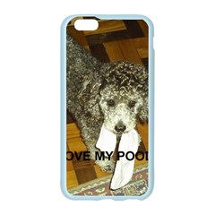 Poodle Love W Pic Silver Apple Seamless iPhone 6/6S Case (Color)