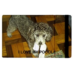 Poodle Love W Pic Silver Apple iPad Pro 12.9   Flip Case