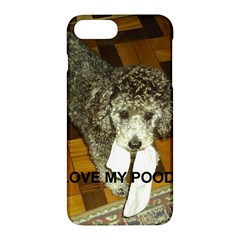 Poodle Love W Pic Silver Apple iPhone 7 Plus Hardshell Case
