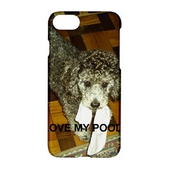 Poodle Love W Pic Silver Apple iPhone 7 Hardshell Case